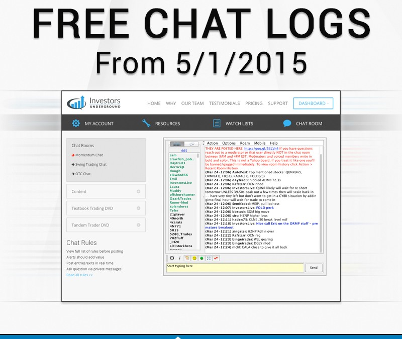 Let's Take an Inside Look at the Chatroom to Kick off May !!