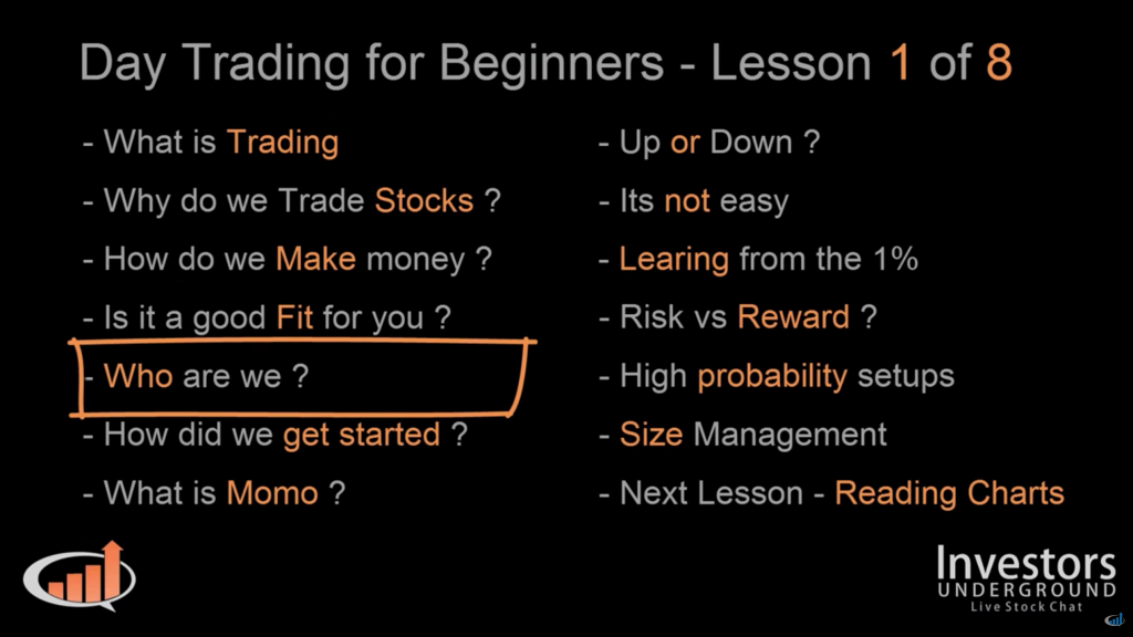 Trading lessons for beginners