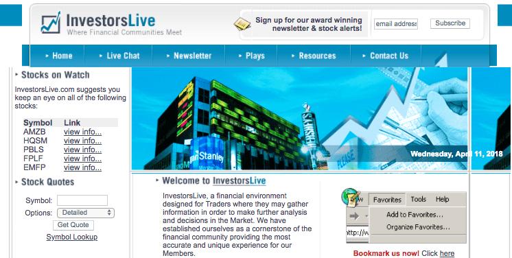 InvestorsLive Original Site