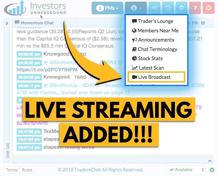 Investors Underground Live Streaming