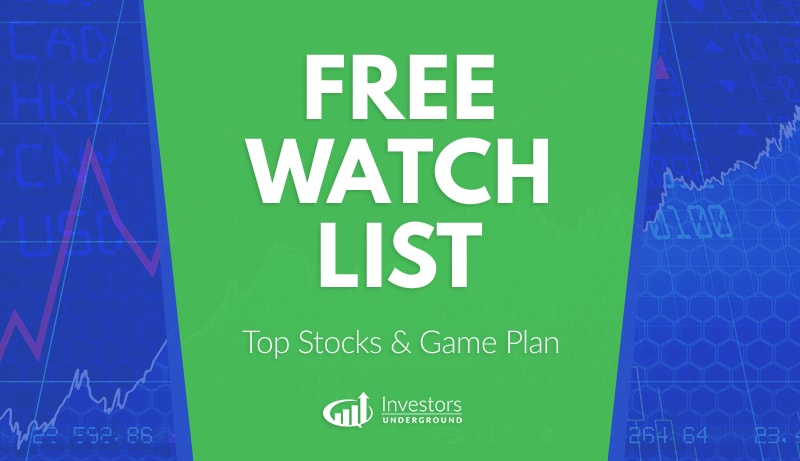 Free Scan Sunday: Stocks to Watch for Monday July 15, 2019