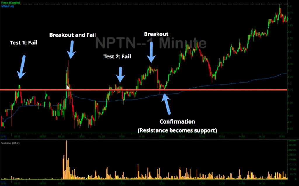 NPTN Minute Chart