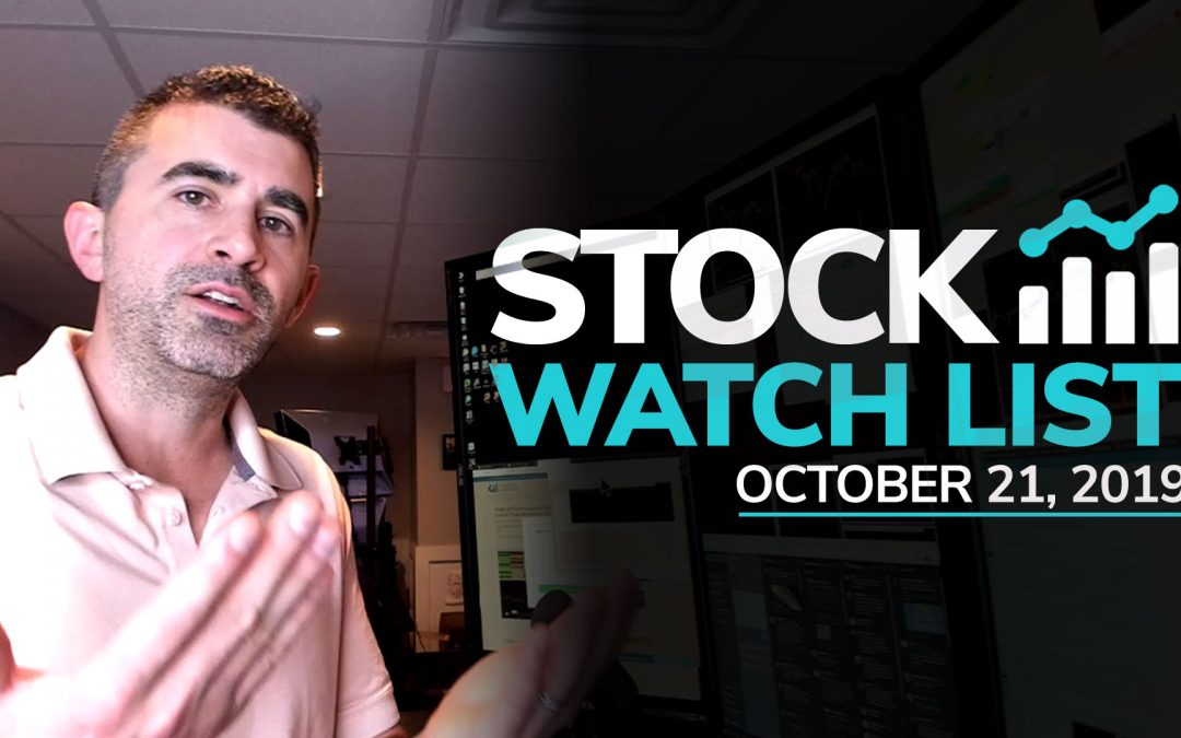 Free Scan Sunday: Stocks to Watch for Monday October 21, 2019