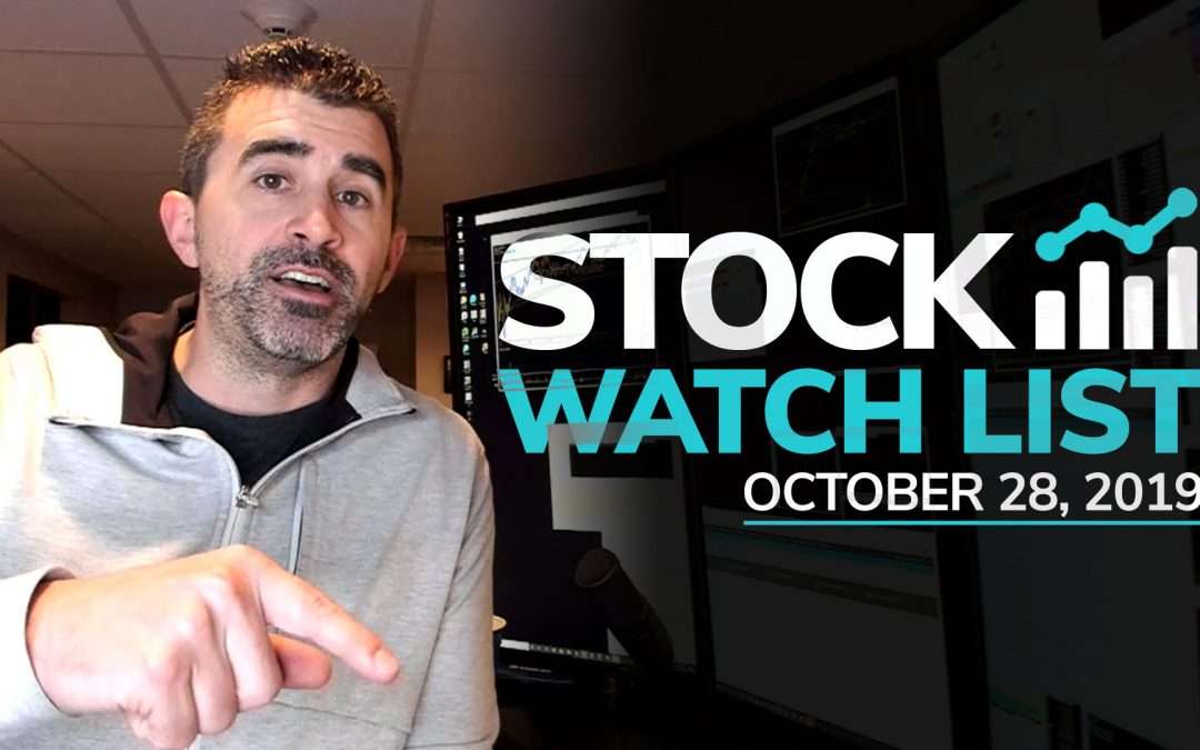 Free Scan Sunday: Stocks to Watch for Monday October 28, 2019