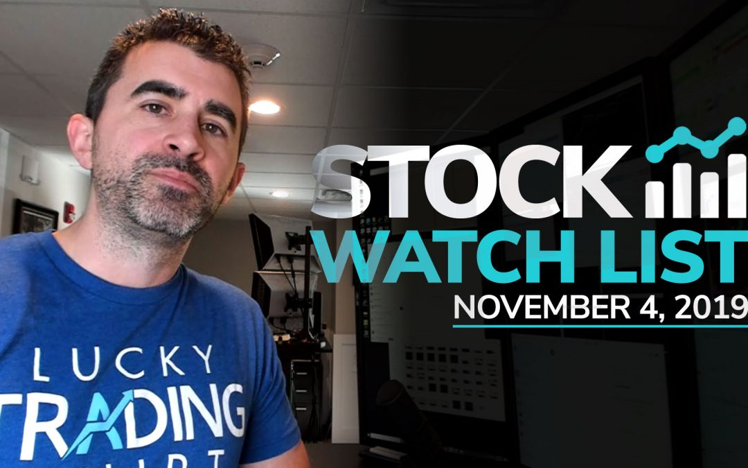 Free Scan Sunday: Stocks to Watch for Monday November 4, 2019