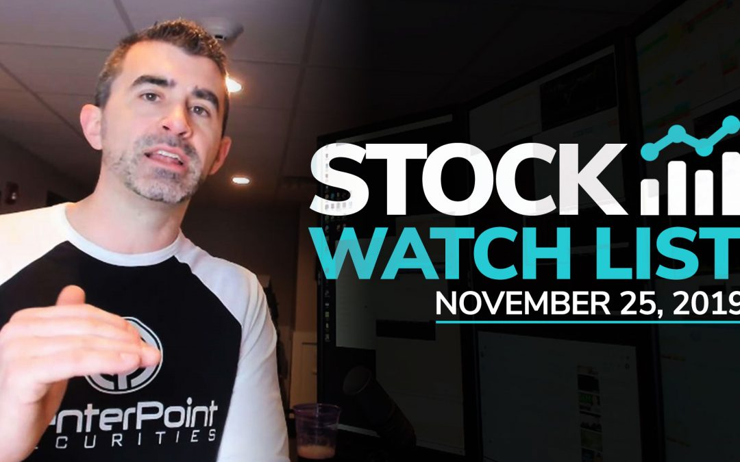 Free Scan Sunday: Stocks to Watch for Monday November 25, 2019