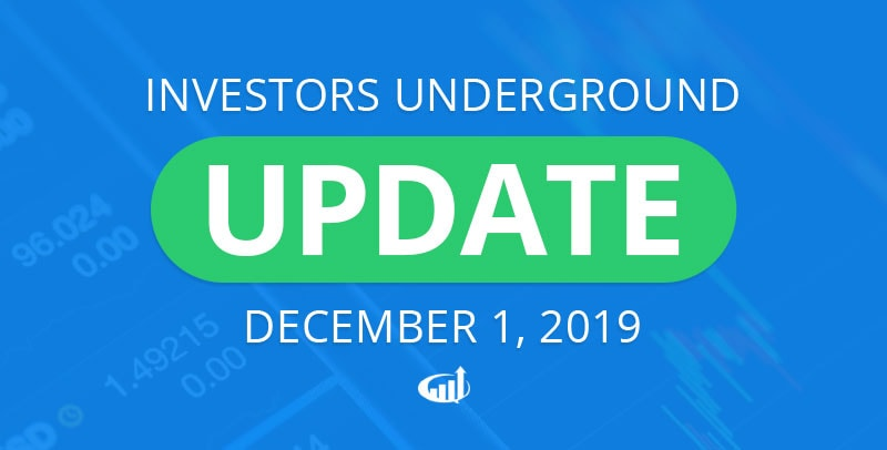 Investors Underground Pricing Changes Effective December 1
