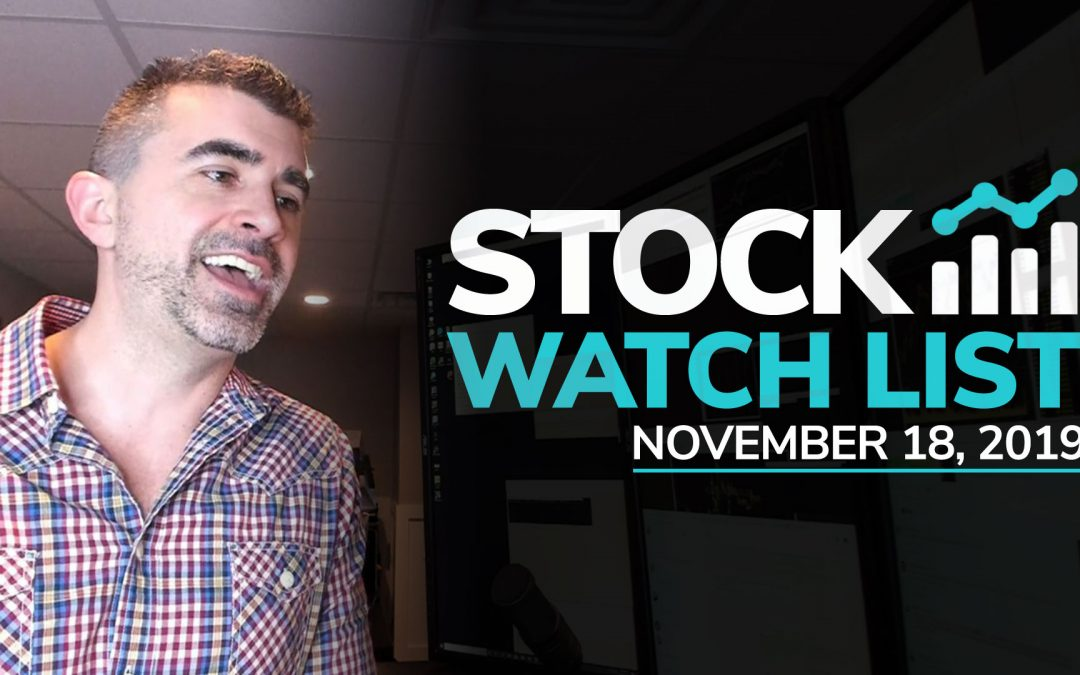 Free Scan Sunday: Stocks to Watch for Monday November 18, 2019