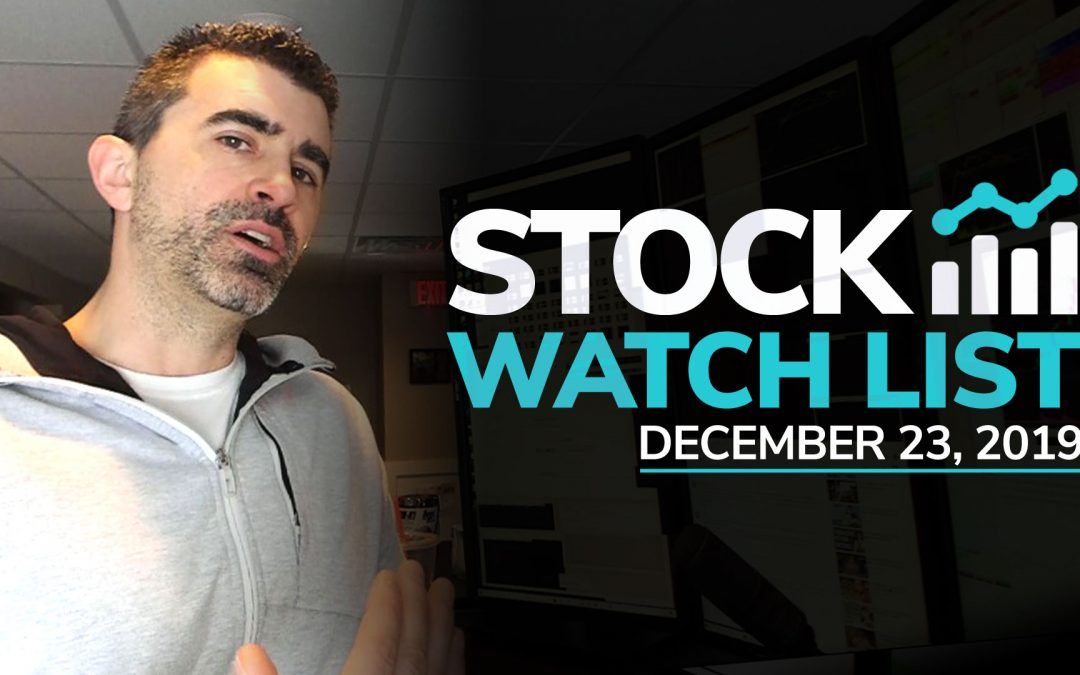 Free Scan Sunday: Stocks to Watch for Monday December 23, 2019