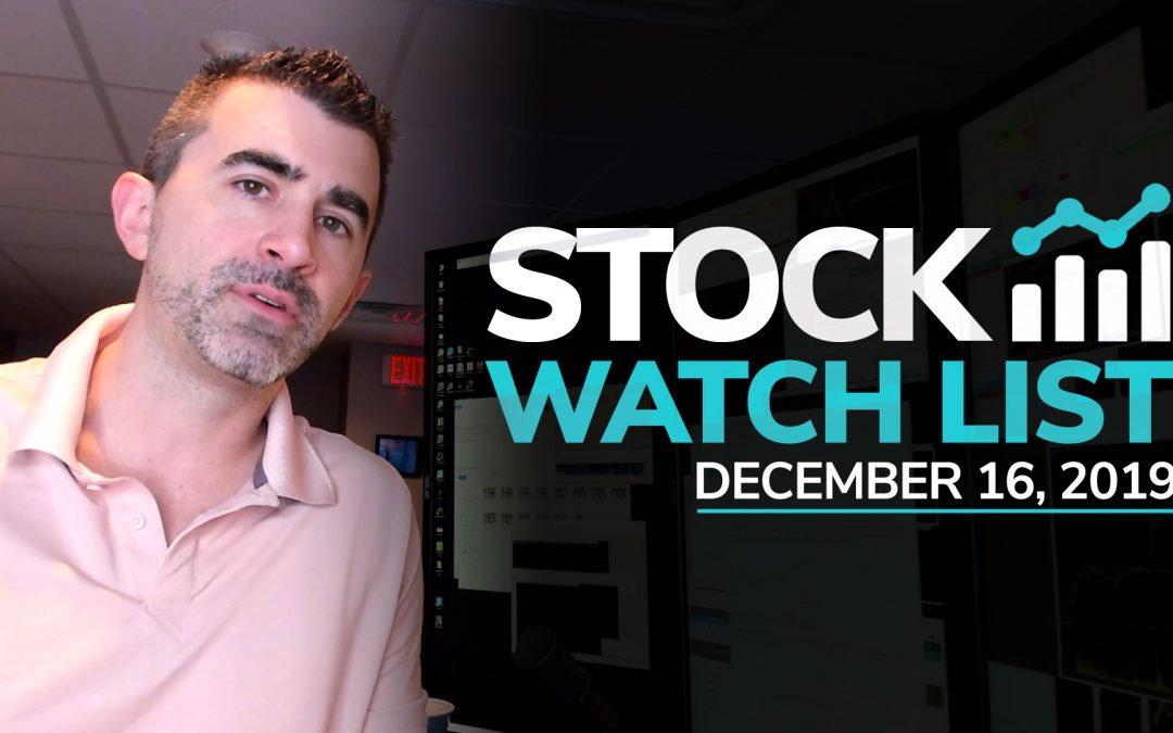 Free Scan Sunday: Stocks to Watch for Monday December 16, 2019
