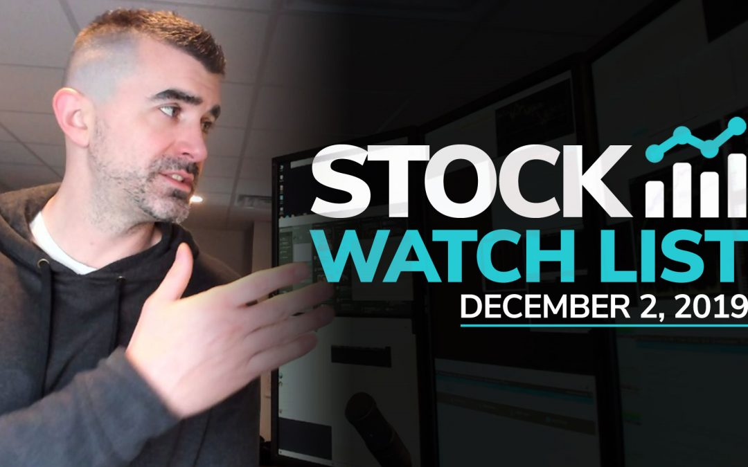 Free Scan Sunday: Stocks to Watch for Monday December 2, 2019
