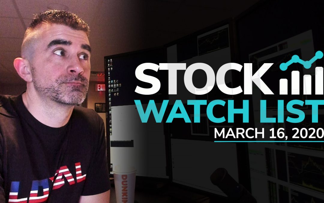 Free Scan Sunday: Stocks to Watch for Monday March 16, 2020